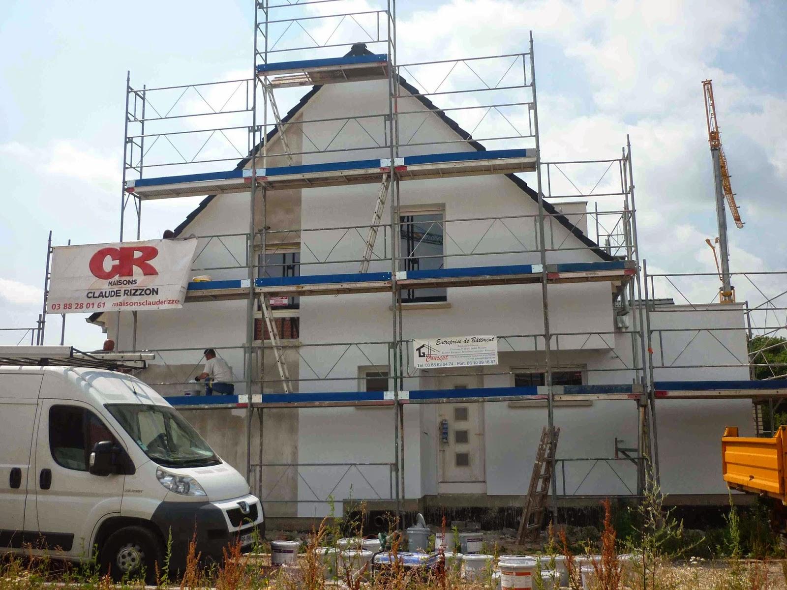 Notre 1 re construction dans le 67 25 06 2014 peinture - Cuisine schmidt fegersheim ...