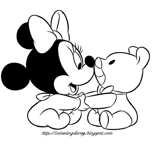 COLORING PAGES OF BABY MICKEY, BABY MINNIE AND BABY DAISY - DISNEY title=