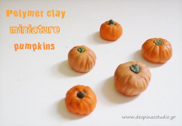 Polymer clay Halloween pumpkins