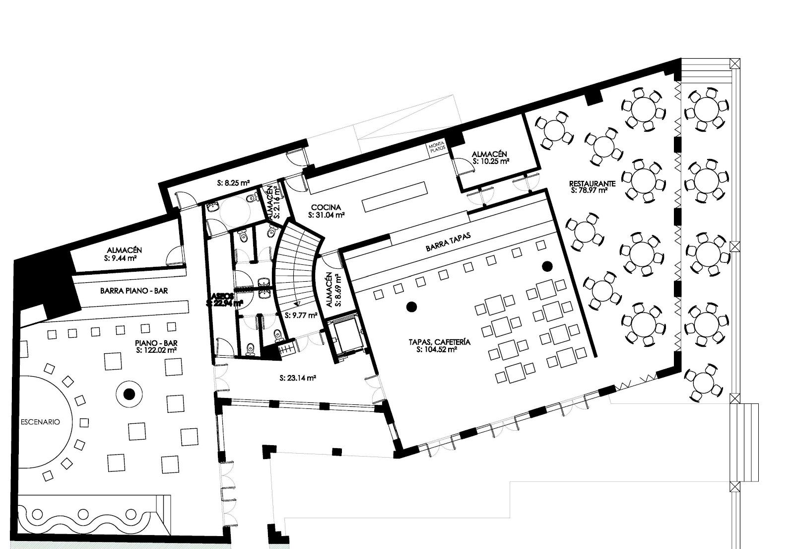 Curro criado arquitecto febrero 2012 for Distribucion cocina restaurante