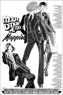 moda inverno na década de 70; moda dandy; moda anos 70; propaganda anos 70; história da década de 70; reclames anos 70; brazil in the 70s; Oswaldo Hernandez