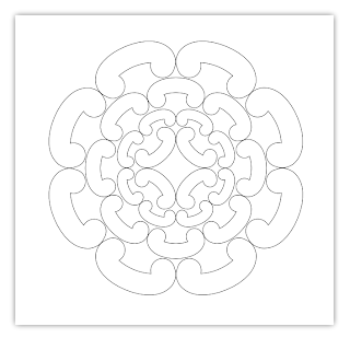 stylised flower free hand embroidery pattern