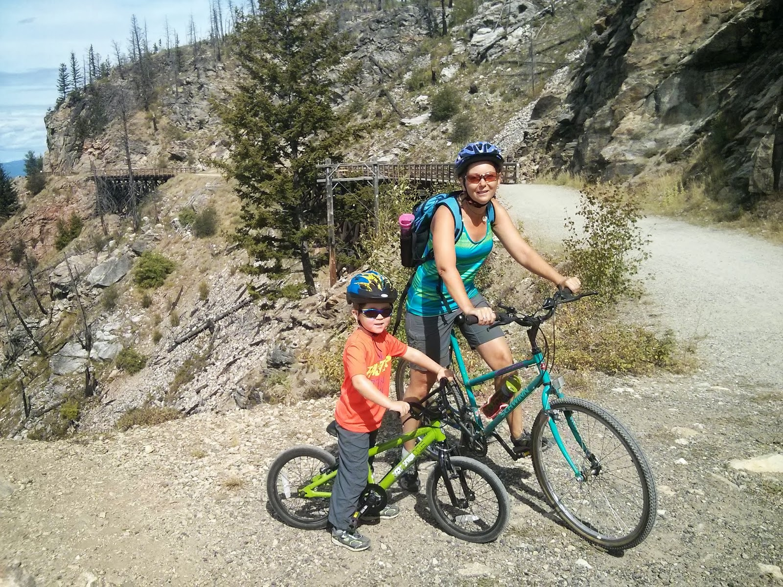 Family Adventures in the Canadian Rockies Biking the Kettle