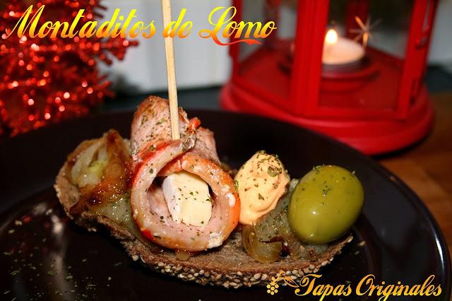 tapas, queso brie, lomo, aceitunas, mostaza, cebolla, recetas originales, tapas originales, entrantes de navidad, aperitivos, montaditos,