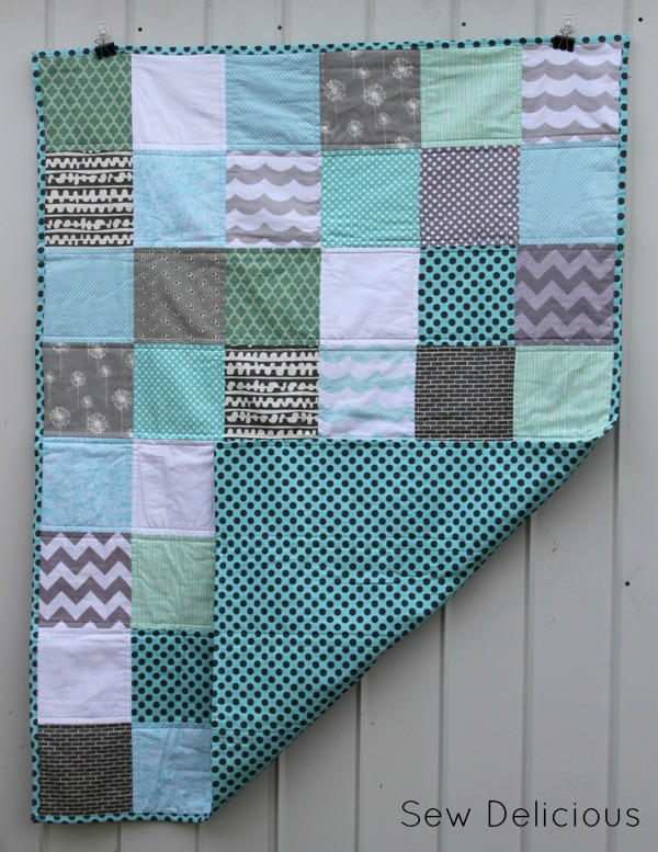 Charity Quilting - Aqua and Grey Quilt - Sew Delicious : aqua quilt - Adamdwight.com