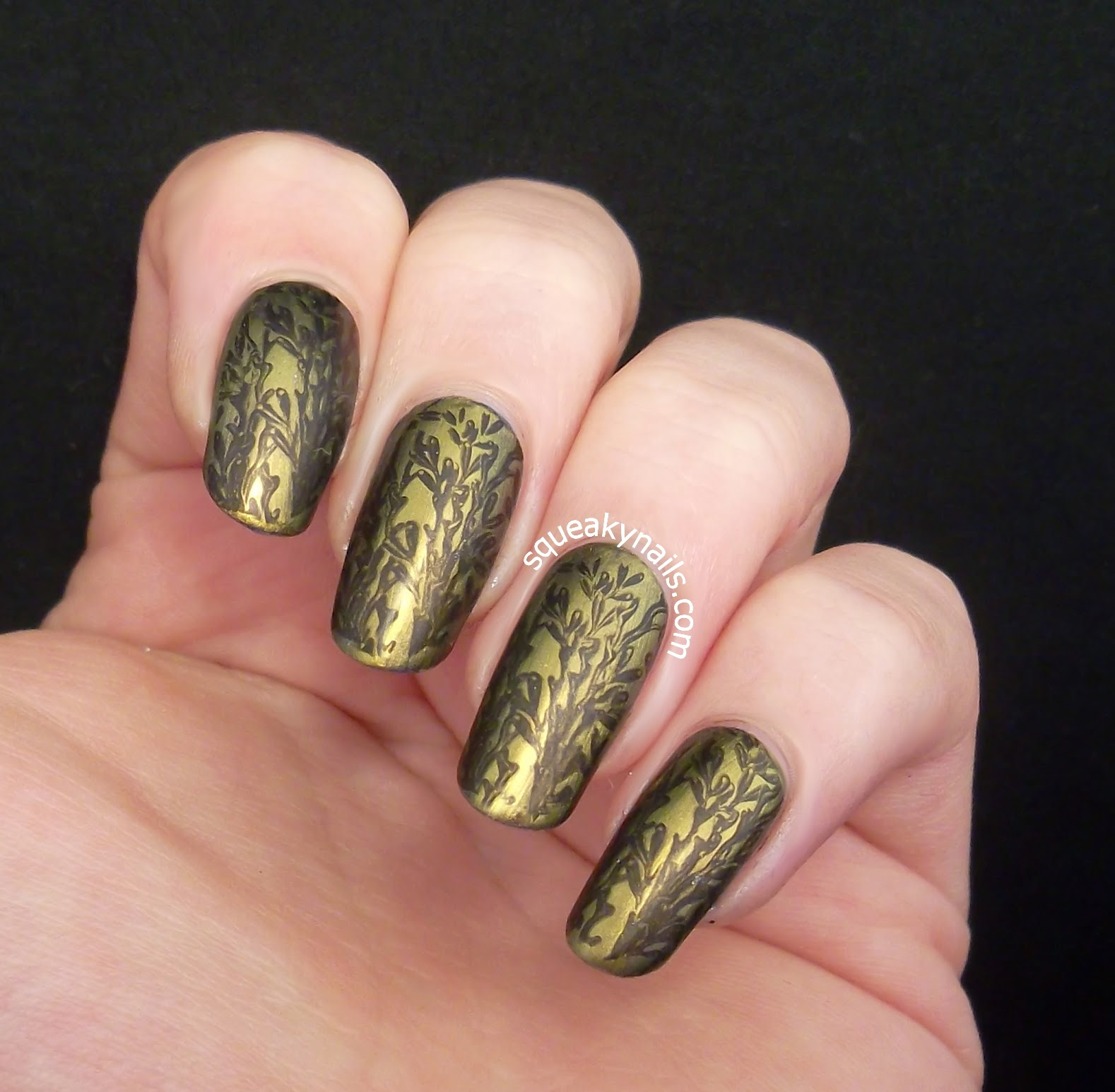 Brocade Nail Art with Bundle Monster Sun Kissed | Squeaky Nails