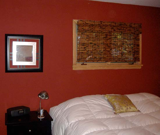 Red accent wall bedroom submited images - Bedroom with red accent wall ...