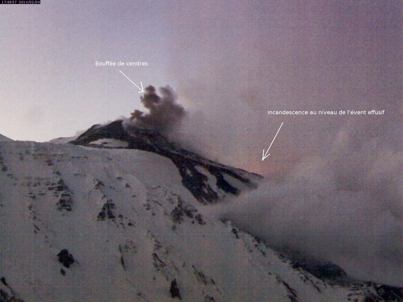 Activité éruptive du volcan Etna, 04 février 2014