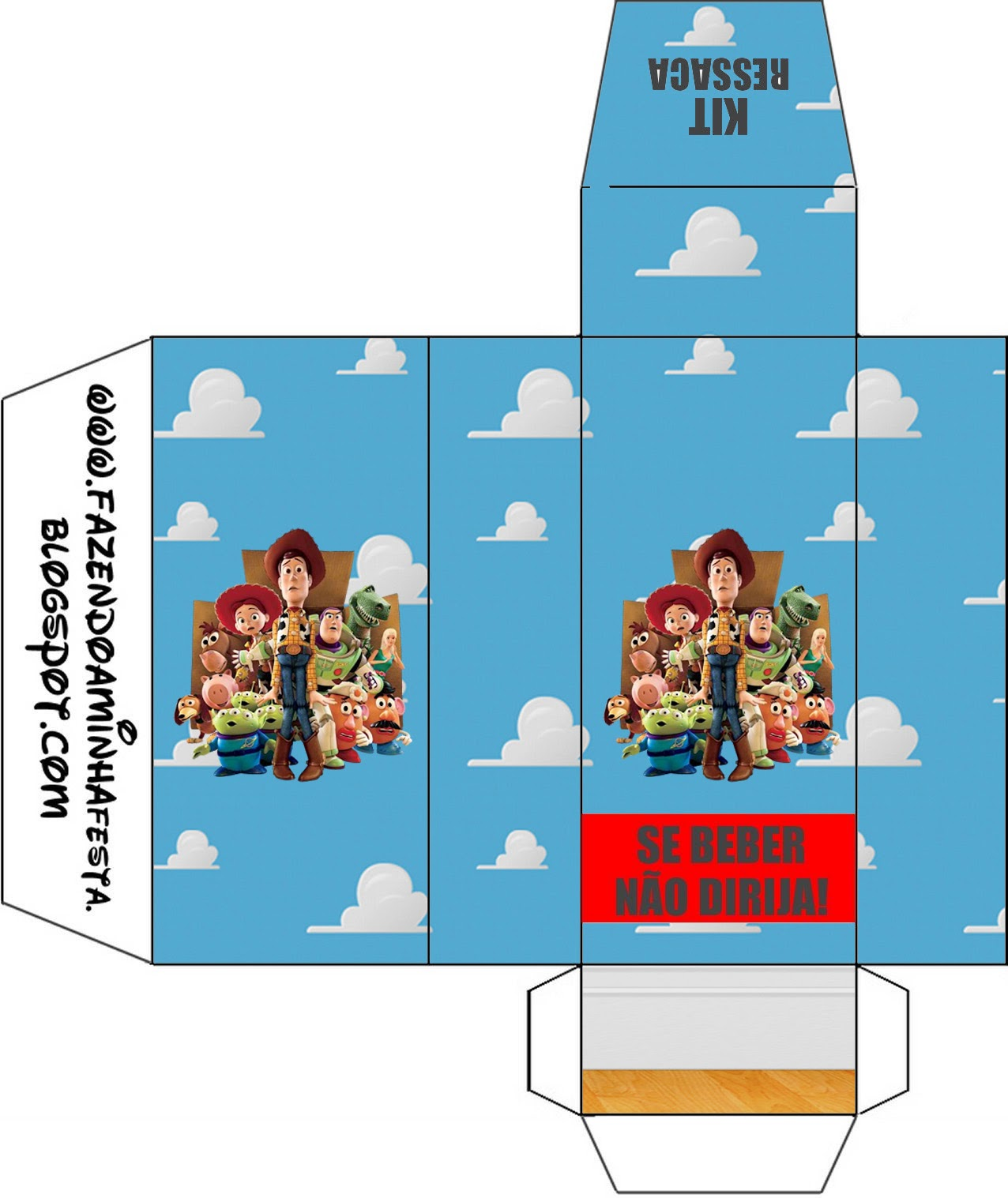 Toy Story 3: Free Printable Boxes.   Oh My Fiesta! in english