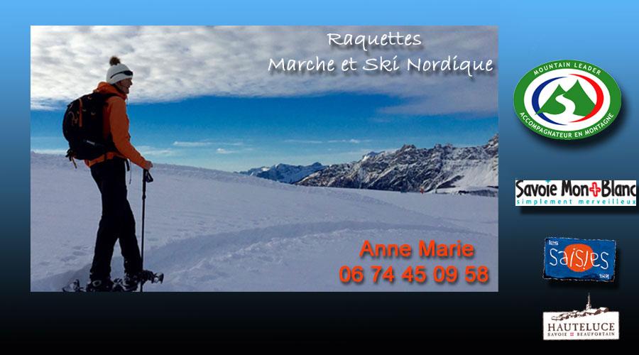 raquettes ski de fond  Les Saisies Hauteluce