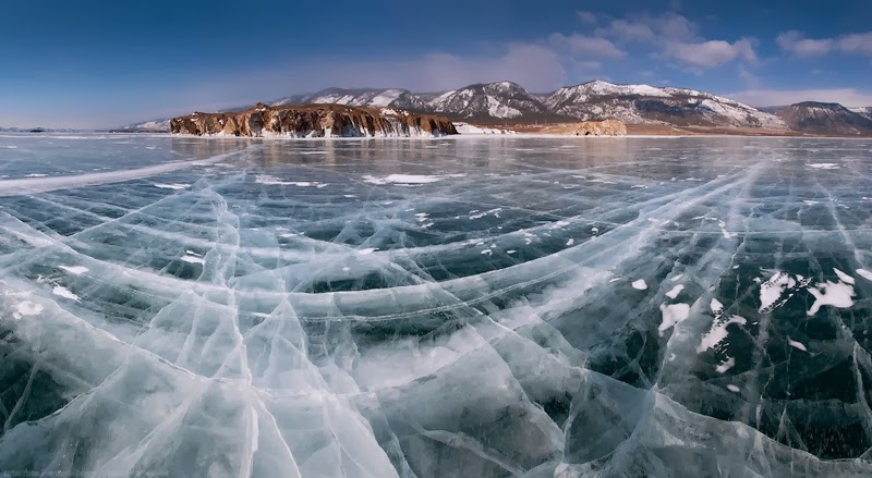 The World's Largest & Deepest Lake, 25-million-Years Old Is Really Pretty When It's Frozen