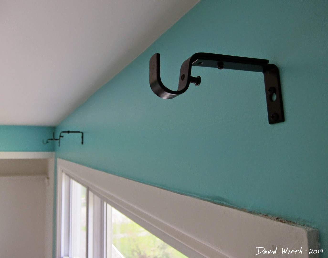 how to hang a curtain rod, curtain rod, wall hangers, metal