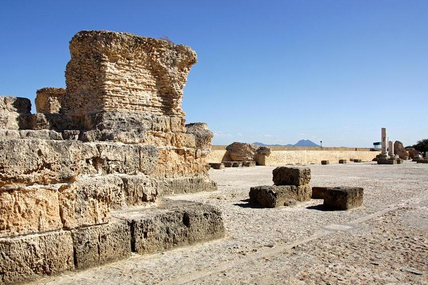Foto das ruínas de Cartago