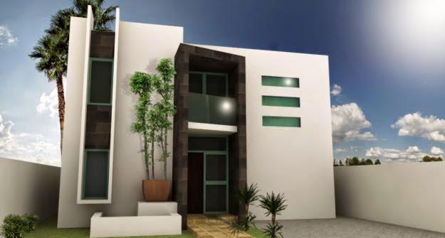 fachada de casas modernas modernos balcon