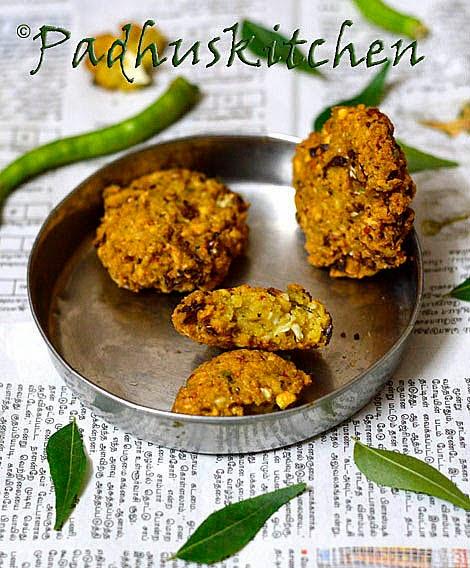 Cabbage Paruppu Vadai-Channa Dal Vada