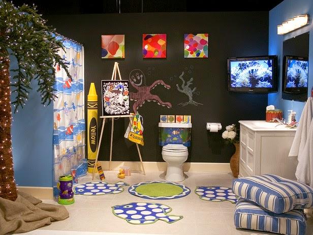 Baños Infantiles Medidas:Para decorar un baño infantil también podemos emplear la temática