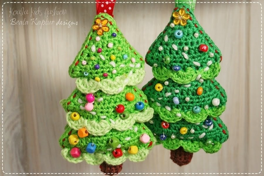 Free Crochet Patterns For Xmas Trees : involves crochet skills only written in american english crochet terms