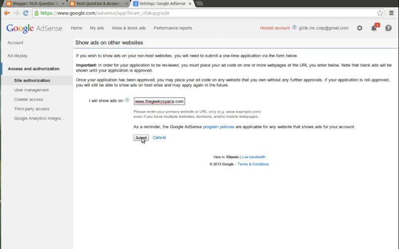 adsense block domain