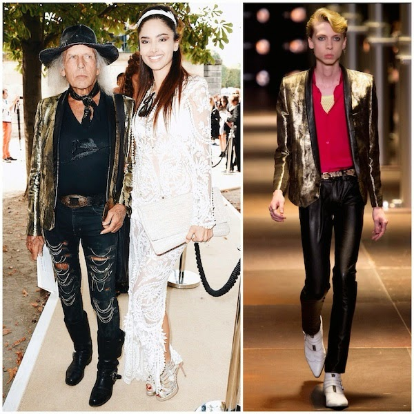 James Goldstein in gold Saint Laurent by Hedi Slimane Spring Summer 2014 jacket