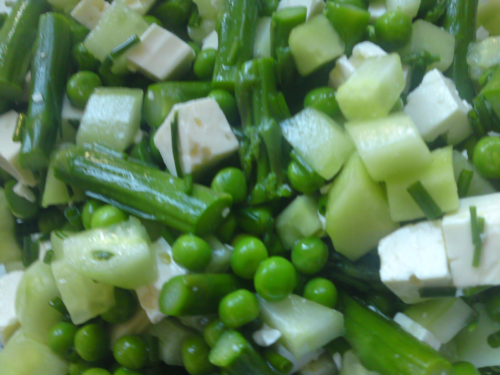 Groenborgs Salat Uden Salat Agurk Asparges ærter Mm