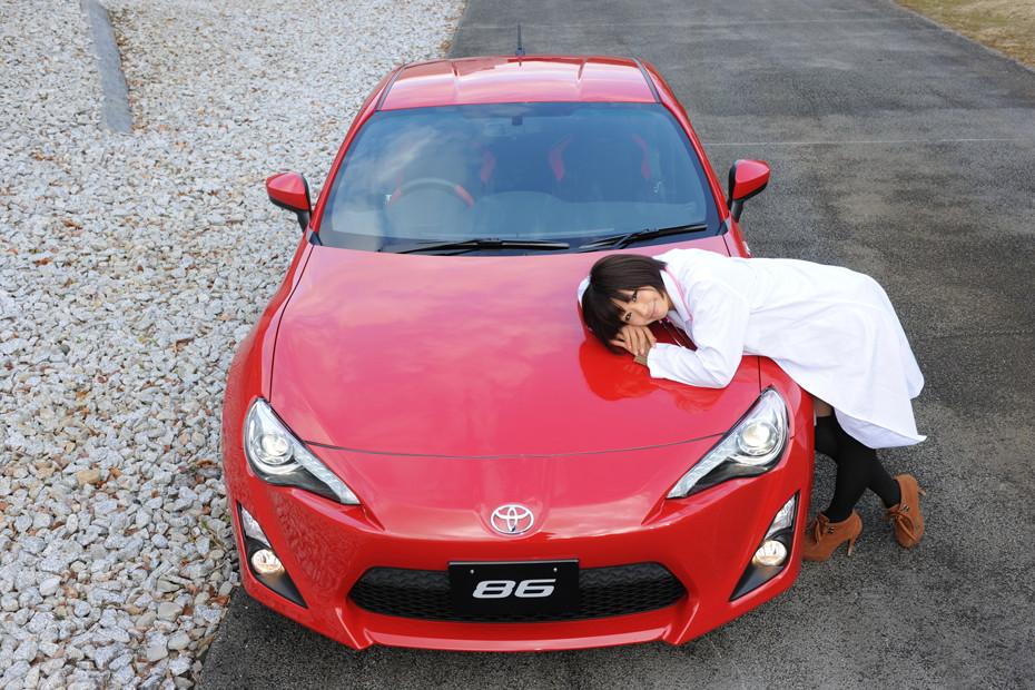 Toyota 86, galeria dziewczyn z samochodami, JDM, czerwona