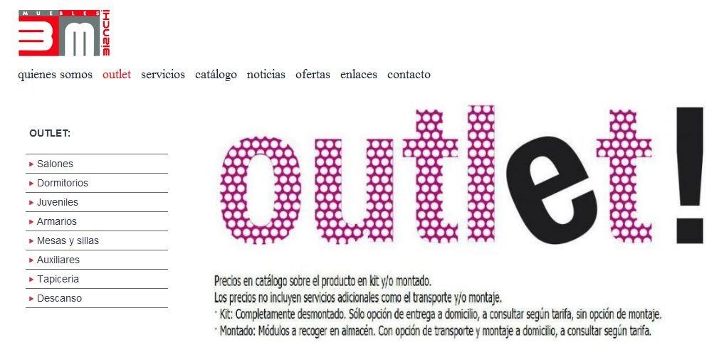 Bianchi muebles web outlet muebles valencia for Outlet de muebles en valencia