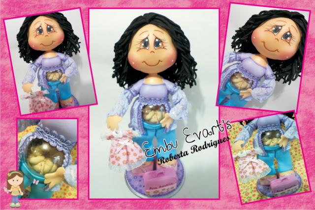 boneca em eva grávida