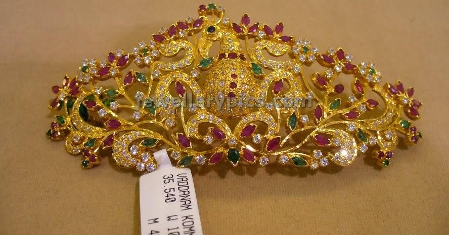 Peacock Vaddanam Billa Models Latest Jewellery Designs