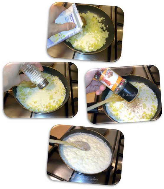 Lomos de merluza en salsa de nata con cebollitas agridulces - Cocinar lomos de merluza ...