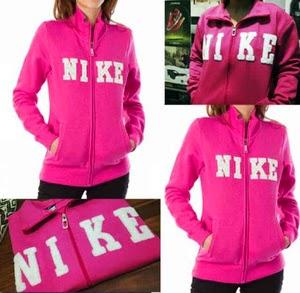 Jaket dan Sweater Wanita Bahan Fleece FJ NIKE Pink