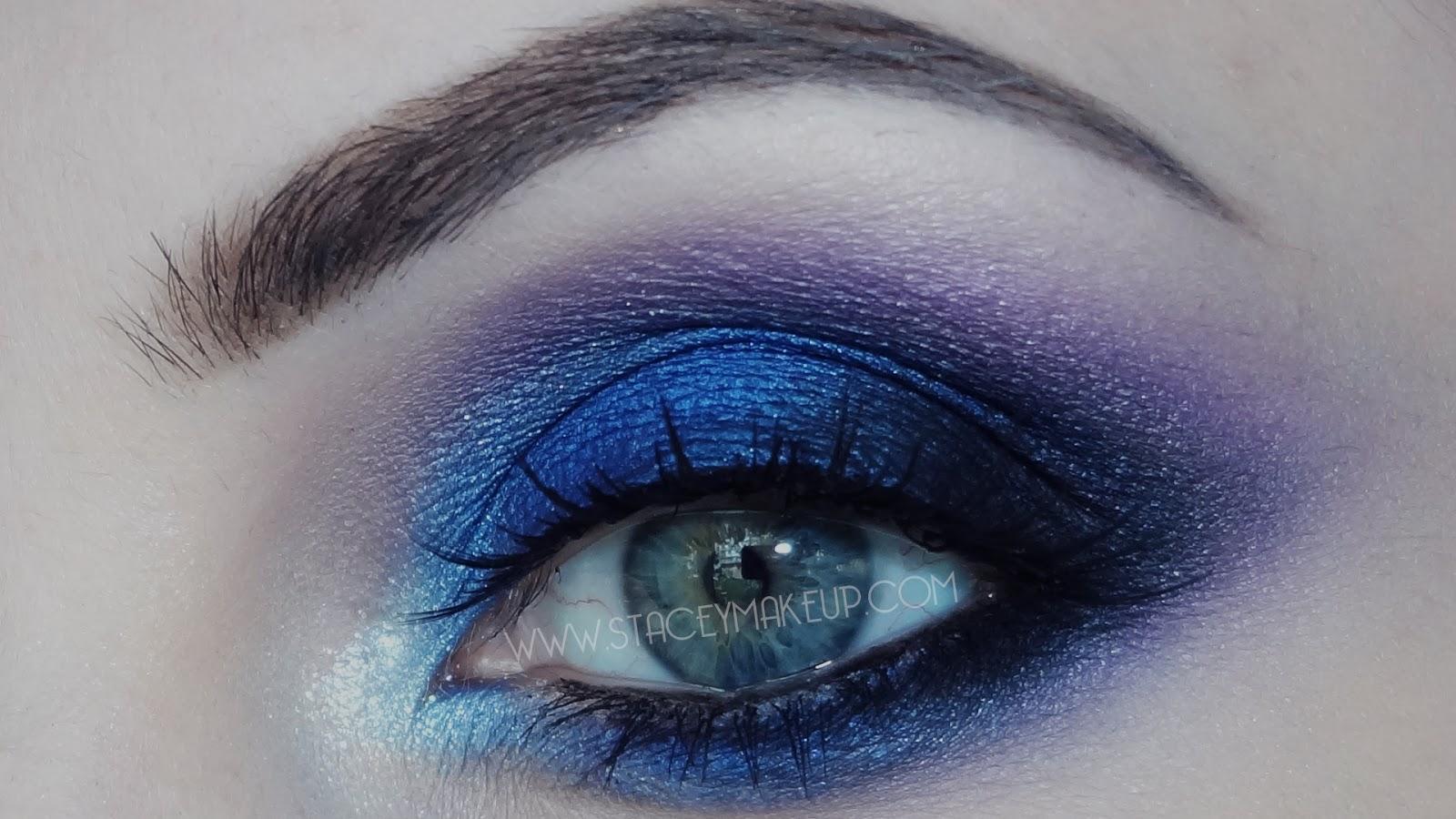 Olhos azuis profundos smokey dicas de maquiagens - Smokey eyes blau ...