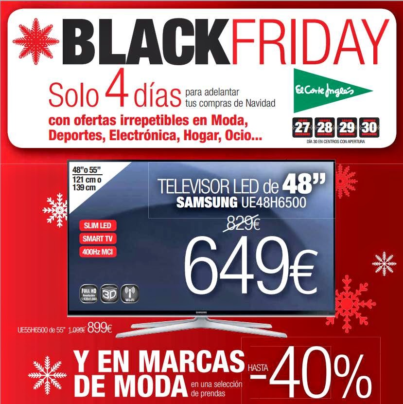 Catalogo Black Friday 2014 El Corte Ingles