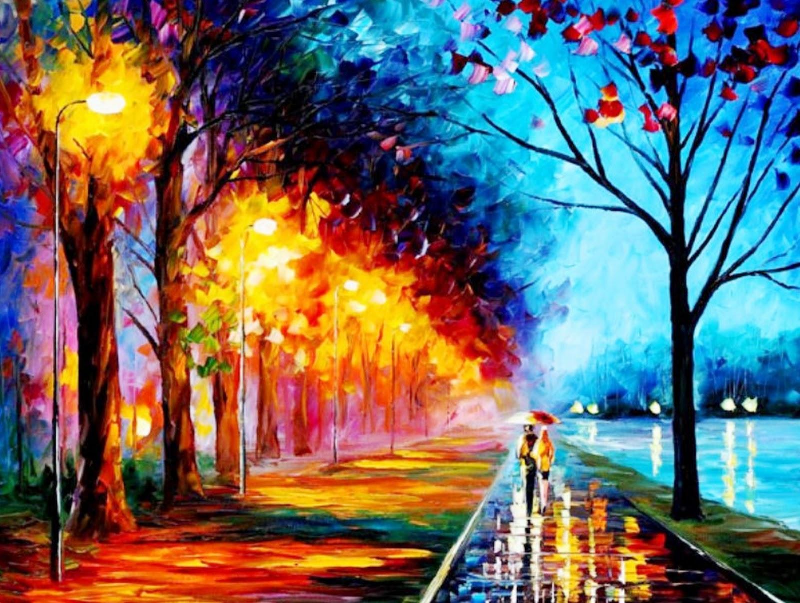 Im genes arte pinturas paisaje impresionista moderno - Lo ultimo en cuadros modernos ...