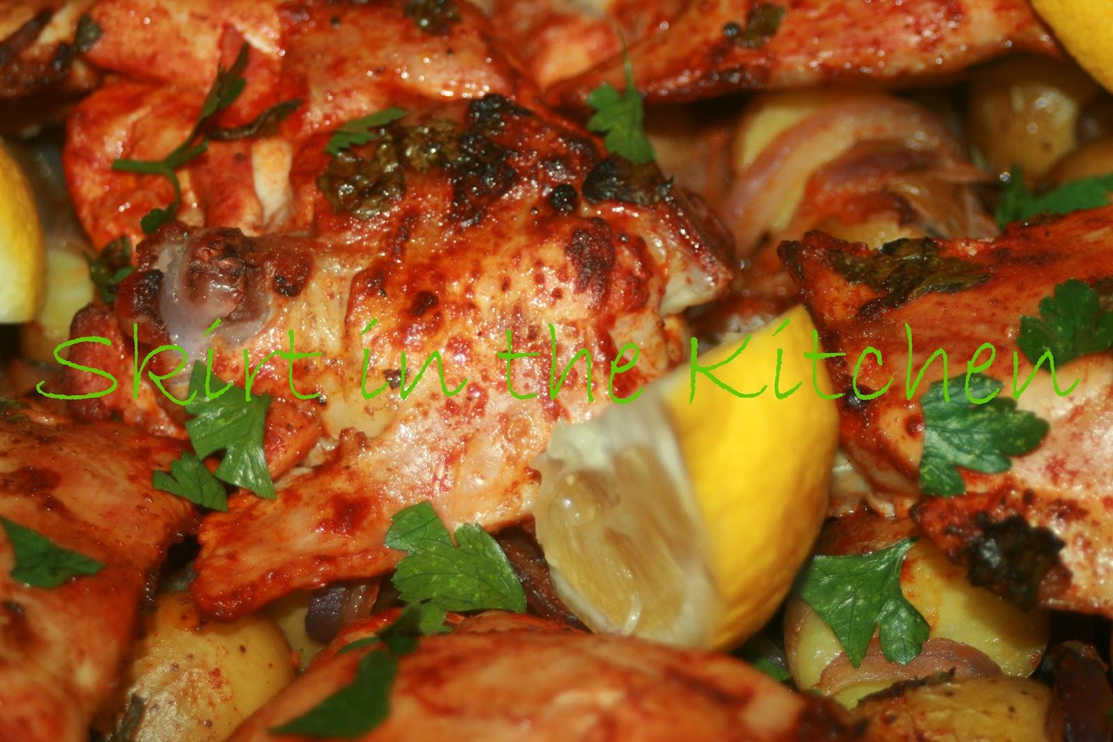 Skirt in the Kitchen: Spanish Chicken and Potato Roast
