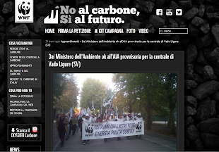 WWF  STOP CARBONE . NO AL  CARBONE , SI' AL FUTURO.