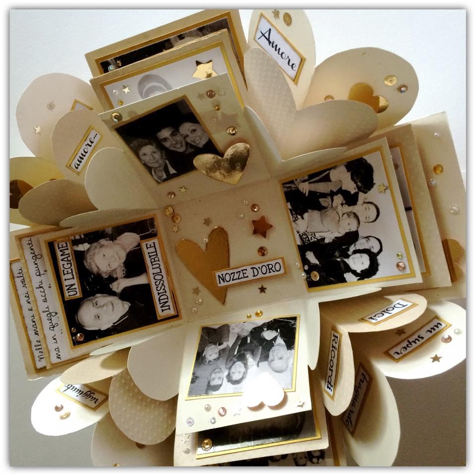 scrap stamping e fantasia un esplosione di oro per un 50 On idee originali per 50 anni di matrimonio
