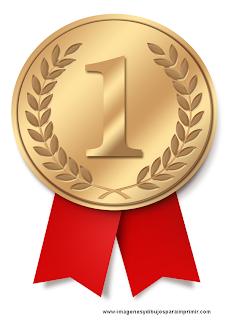 Medallas de oro para imprimir