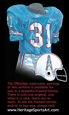 Houston Oilers 1979 uniform - Tennessee Titans 1979 uniform