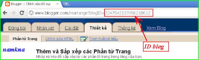Cách xác định ID blogspot blogger
