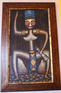 A painting from Papua New Guinea