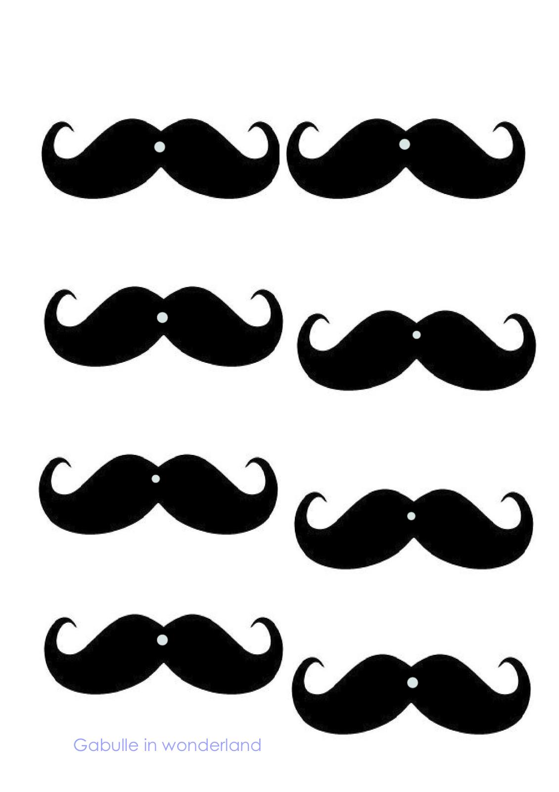 Gabulle in wonderland diy les pailles moustaches - Dessin de moustache ...