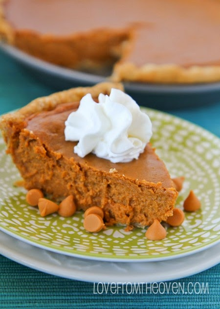 16. Butterscotch Pumpkin Pie Recipe by Love From the Oven