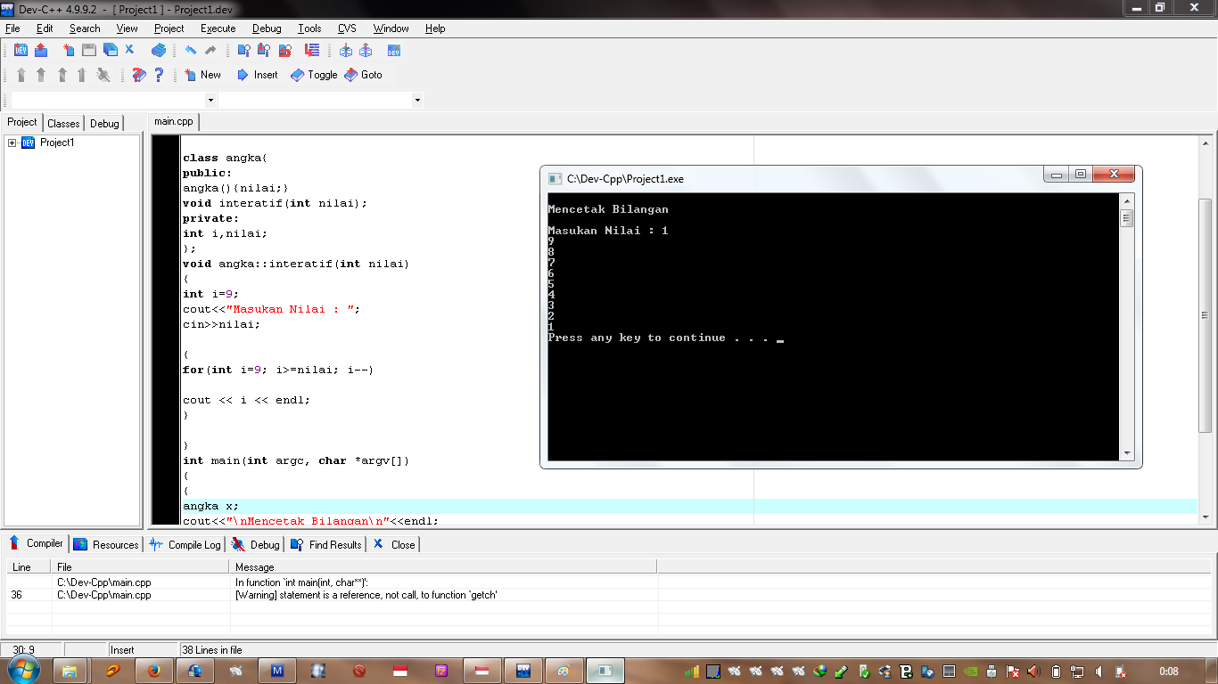 c++ how to pause program at end