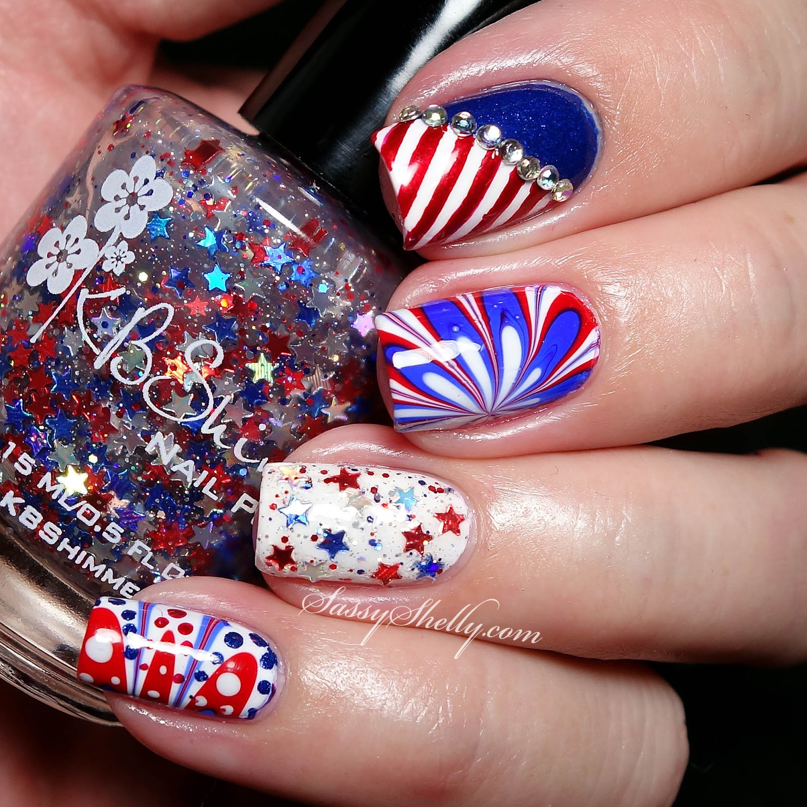 Independence Day Manicure with KBShimmer, Zoya and OPI  Sassy Shelly