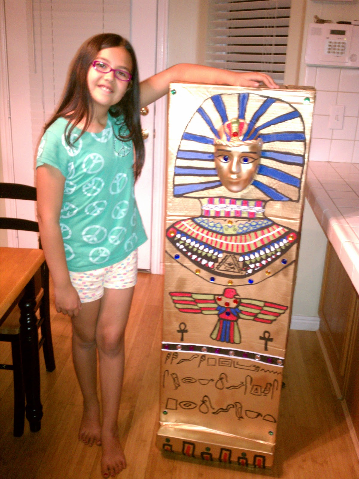 how to make a sarcophagus out of cardboard