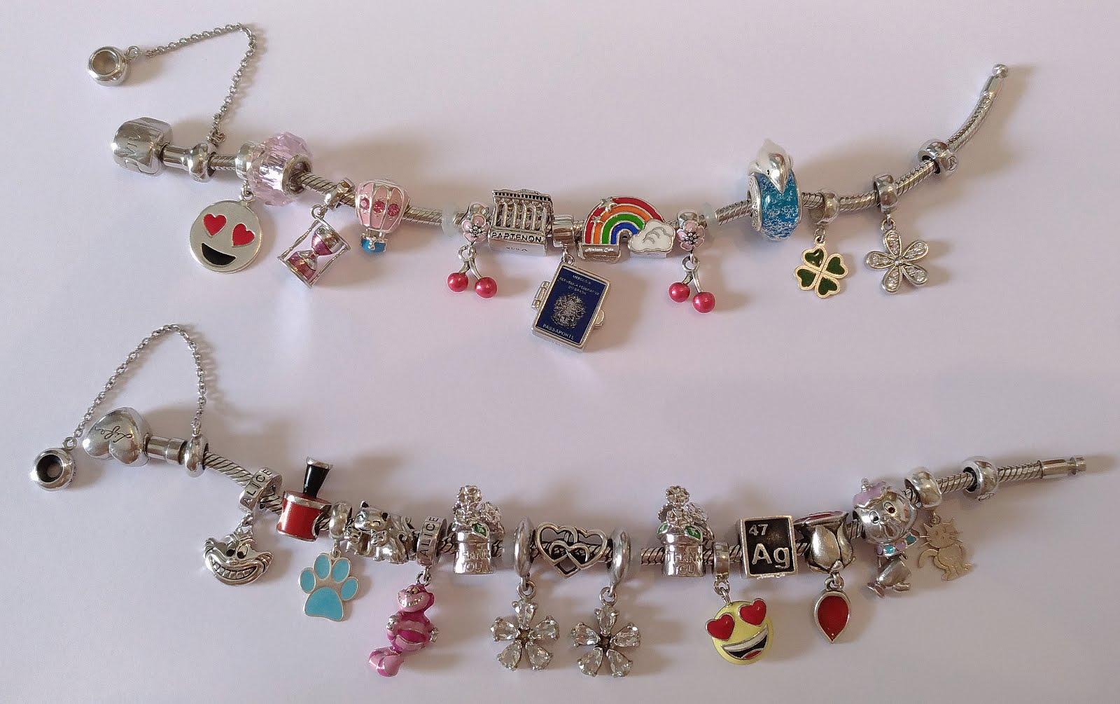 2827c7470a3 Eu resolvi separar as histórias das pulseiras  em uma ficou os pingentes  relacionados à viagens e na outra as outras histórias