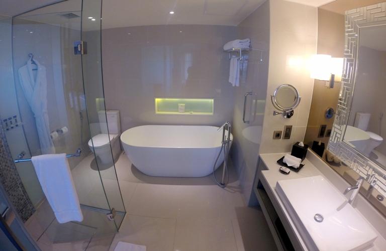 Huge Bathroom Bathtub And A Shower