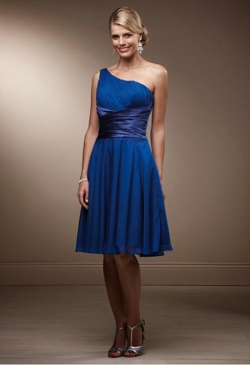 Vestidos Dama de Honor, Azulino