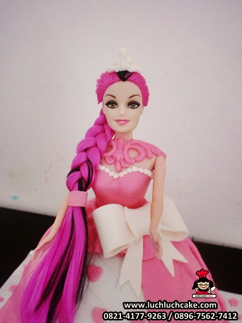 Kue Tart Princess Barbie Pink Ulang Tahun Anak