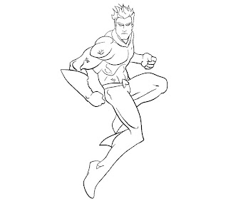 #7 Aquaman Coloring Page